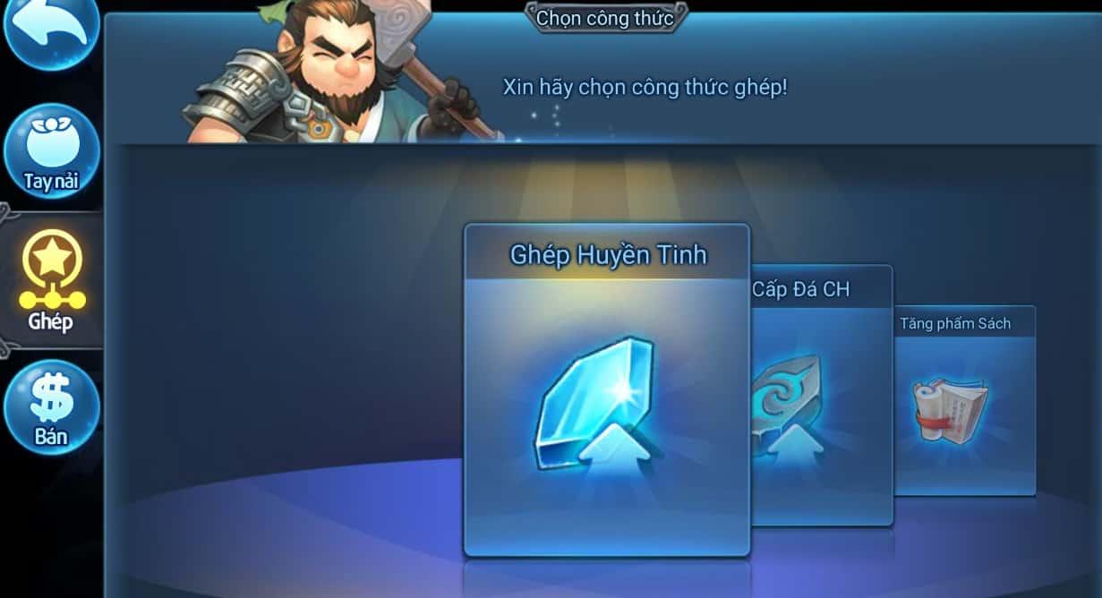 Ghép Huyền Tinh trong game Thiên Hạ Garena