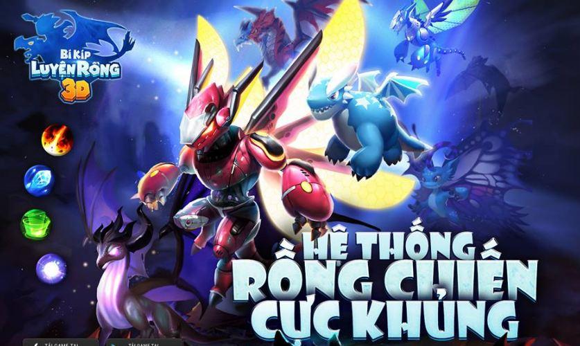 Hệ thống Rồng chiến phong phú trong Bí Kíp Luyện Rồng 3D Mobile