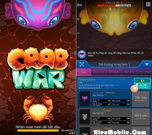 Hình ảnh 1MhWRGH của Tải game Crab War - Cua Chiến Tranh tại HieuMobile