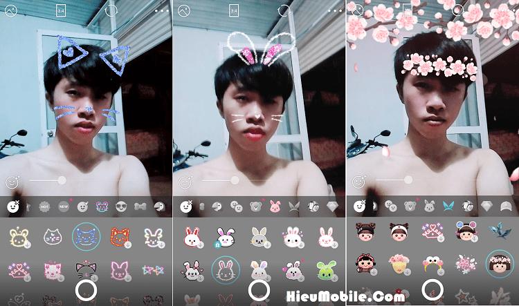 Hình ảnh 1vU9v07 của Cách ghép mặt thỏ mèo siêu dễ thương khi chụp ảnh bằng B612 tại HieuMobile