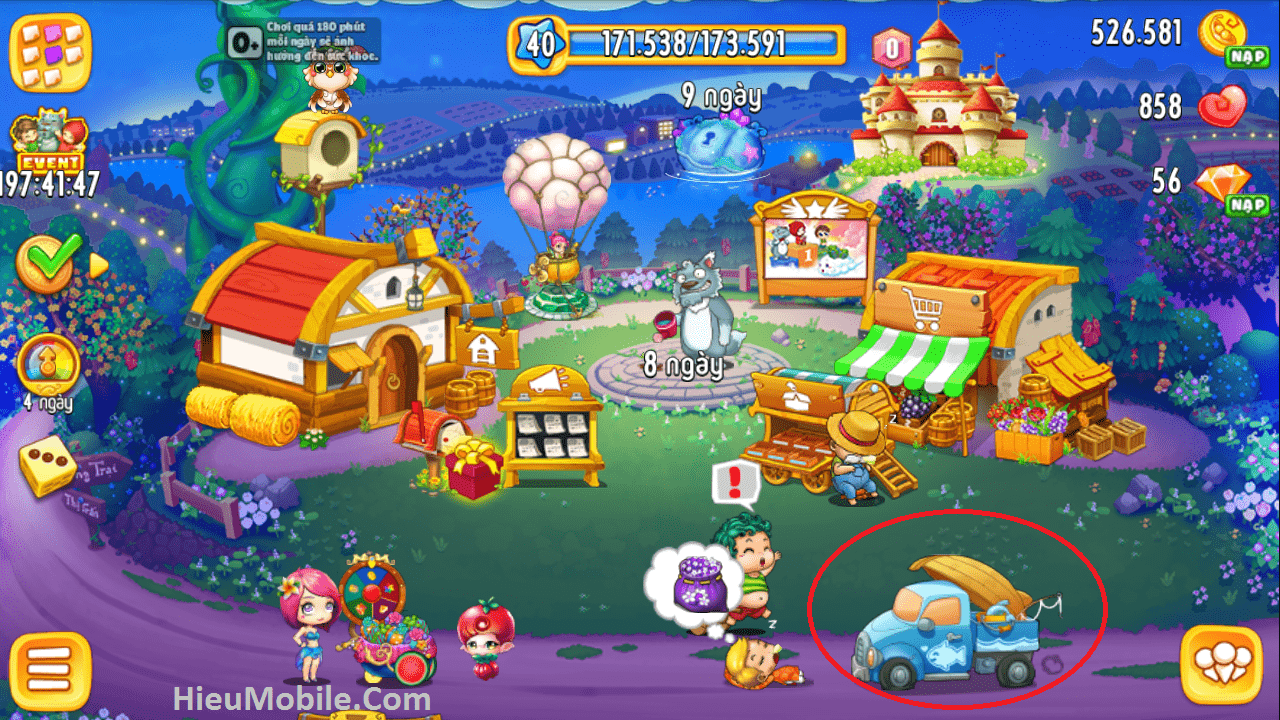 Hình ảnh 22dwbcr của Khu Vườn Trên Mây Mobile cập nhật tính năng Câu Cá thú vị tại HieuMobile