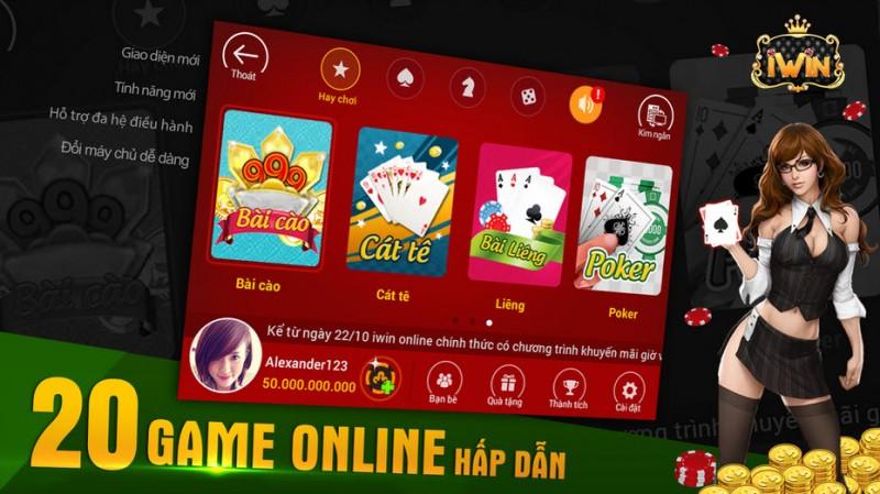 Hơn 20 game online đang chờ bạn trong iWin