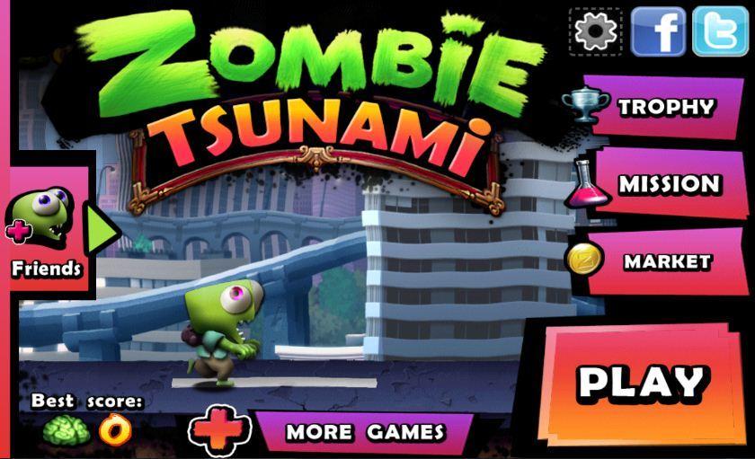 Zombie Tsunami - Cơn bão thây ma là game nhịp độ nhanh và vui