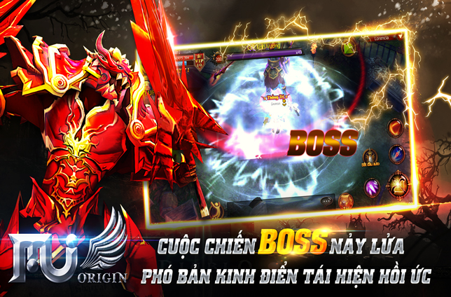 Cuộc chiến boss nảy lửa tái hiện lại cùng MU Origin VN