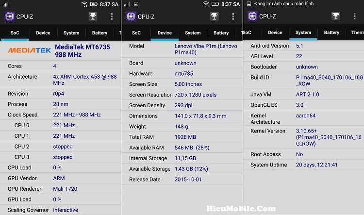 Hình ảnh 2NOB6UX của Tải CPU Z - Ứng dụng xem cấu hình điện thoại Android chi tiết tại HieuMobile