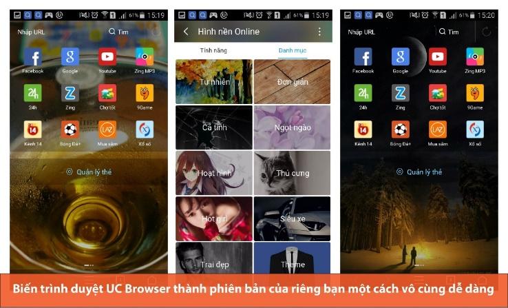 5 tính năng đặc biệt của UC Browser