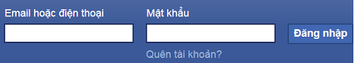 Thông tin đăng ký, đăng nhập Facebook phải thuộc quyền sở hữu của bạn