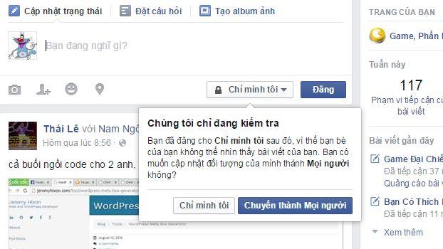 Hướng dẫn đặt một câu hỏi trên trang cá nhân Facebook