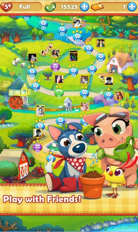 Cùng những anh hùng nông trại đánh đuổi trộm và kẻ phá hoại mùa màng - Tải game Farm Heroes Saga