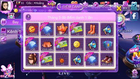 Kiếm Gold sử dụng trong game Super Dancer VN