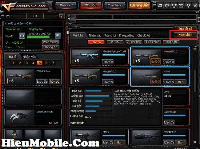 Hình ảnh 60oOv12 của Replay - bằng chứng khó chối cãi khi tố cáo hack trong Đột Kích tại HieuMobile