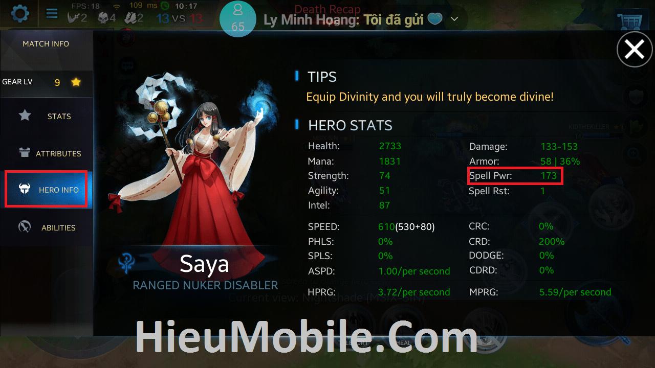 Hình ảnh 7HGEtWV của Chủ động gia tăng sát thương cho tướng Saya - Heroes Evolved tại HieuMobile