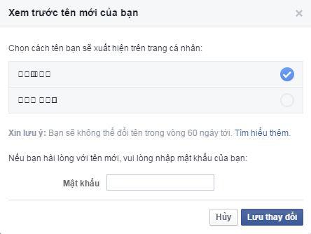 Đổi tên Facebook bằng ký tự đặc biệt, hình thẻ Sim