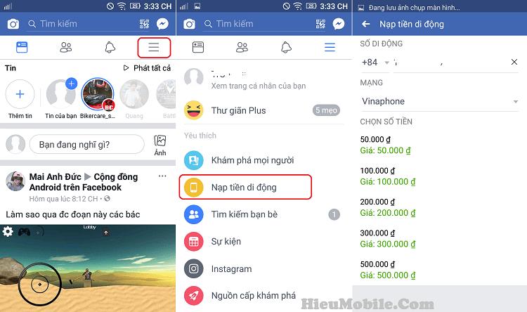 Hình ảnh 857ym2V của Hướng dẫn nạp tiền thuê bao di động bằng ứng dụng Facebook tại HieuMobile