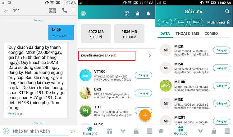 Hình ảnh 8T383Gf của Cú pháp đăng ký dung lượng data 3G Viettel mới và chính xác nhất 2018 tại HieuMobile