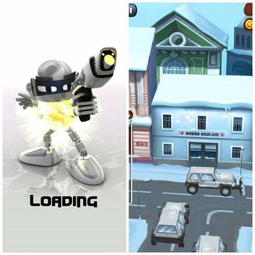 Một số hình ảnh khi mới vào game Angry Gran Run