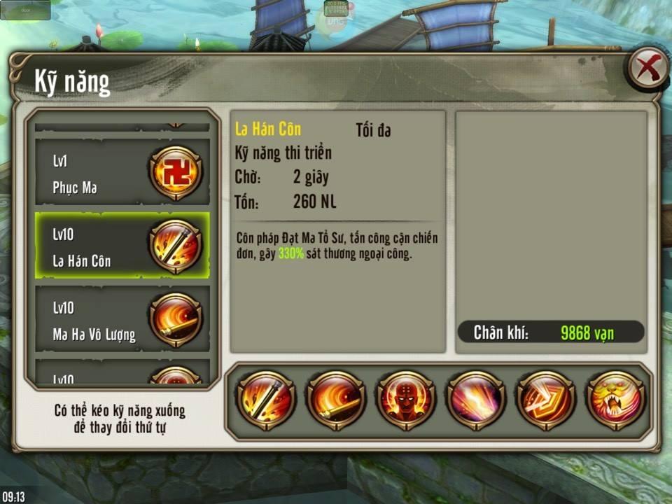 Thiếu Lâm Thời gian hồi kill lẹ nên liên tục dồn dame lên mục tiêu chỉ định trong Thiên Long Bát Bộ 3D