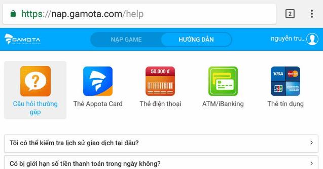 Hình ảnh 9cLXYv1 của Gamota ra mắt cổng nạp thanh toán game trên website tiện lợi tại HieuMobile