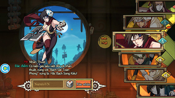 Làng Lá Mobile có nhiều lớp nhân vật để chọn