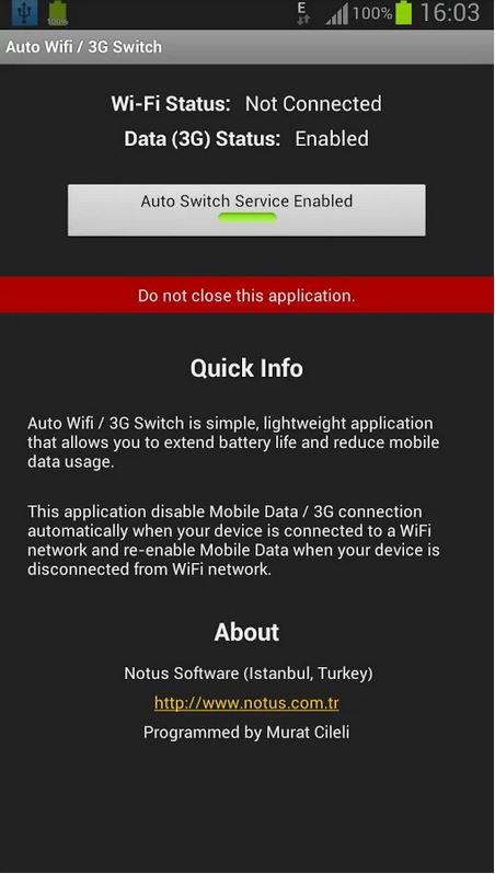 Tự động tắt 3G khi có mạng Wifi trên Android