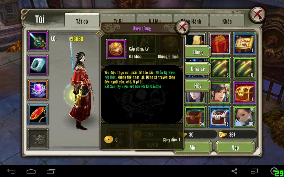 Nhẫn Uyên Ương trong tính năng kết hôn game Thiên Long Bát Bộ