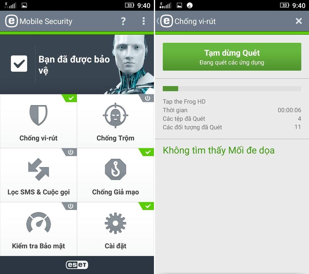Tải ứng dụng diệt virut virus điện thoại Android