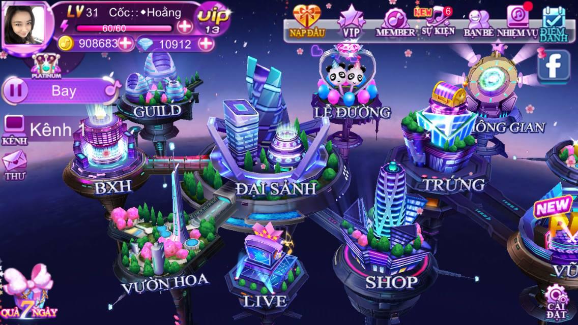Giao diện chính game Super Dancer VN