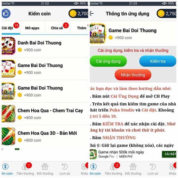 Cài app là cách phổ biến trong kiếm tiền online với BigCoin