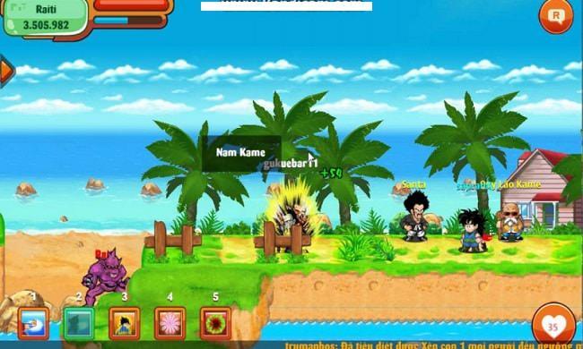 Hình ảnh boss Raiti trong game Ngọc Rồng Online