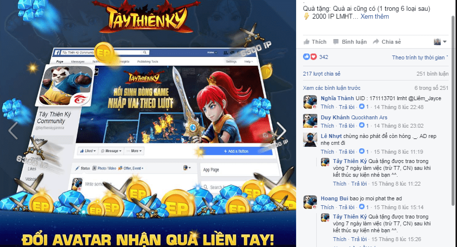 Tay Thien Ky Garena sap ra mat