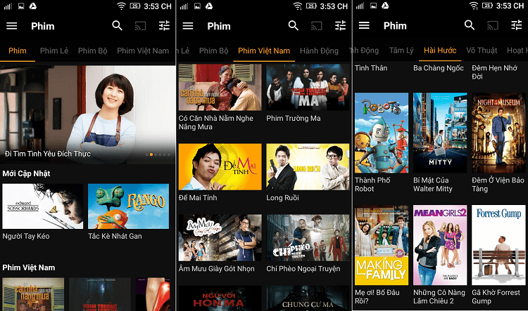 Clip TV tập hợp những bộ phim có chất lượng cao với nhiều thể loại, quốc gia