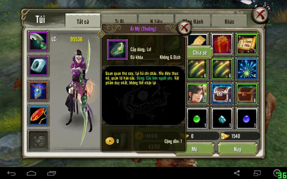 Có 2 loại nhẫn Ái Mộ trong tính năng kết hôn game Thiên Long Bát Bộ