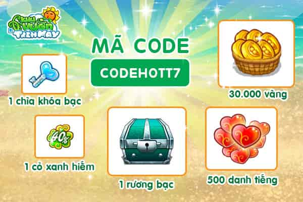 Giftcode thang 7 Khu Vuon Tren May Mobile