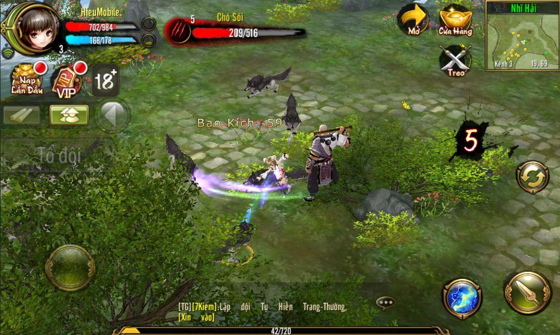 Sử dụng Bảo Thạch để nâng cao sức mạnh và phòng thủ trong game Thiên Long Bát Bộ 3D