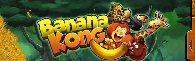 Ảnh bìa đầy vui nhộn của game Khỉ Nhặt Chuối - Banana Kong