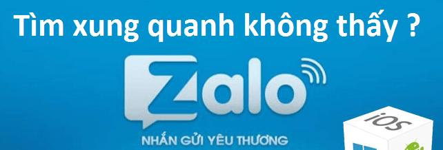 Hình ảnh của Tại sao tìm xung quanh bằng Zalo lại thấy toàn người lạ ? tại HieuMobile