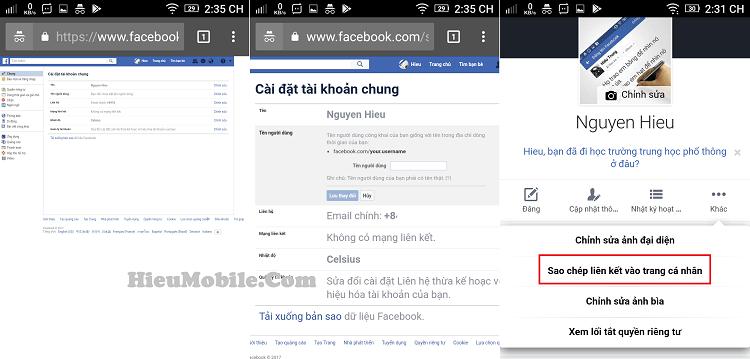Hình thứ 3 là cách lấy và kiểm tra tên người dùng đã được thay đổi hay chưa.