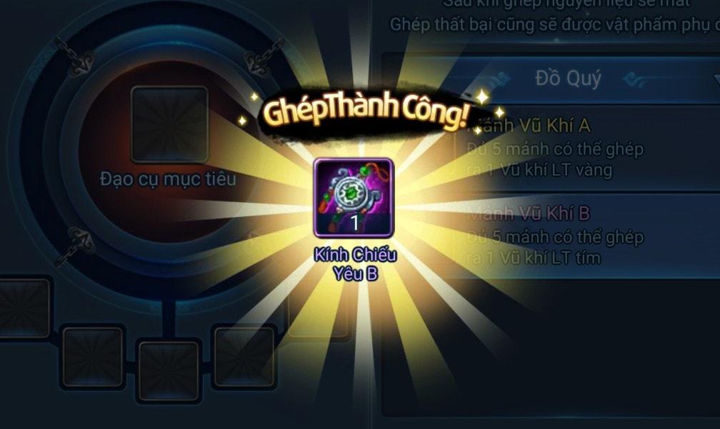Ghép Hồn Trang trong game Thiên Hạ Garena