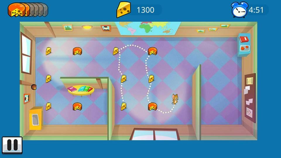 Hình ảnh trong game Tom và Jerry - Cơn sốt pho mát tại HieuMobile
