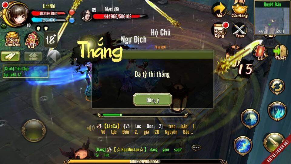 Tiêu Dao hoàn toàn có thể thắng Đại Lý nhiều hơn gần cả 100k máu
