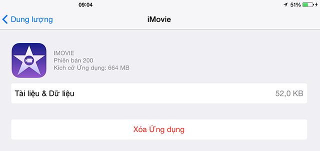 Thủ thuật tiết kiệm dung lượng bộ nhớ của thiết bị iOS