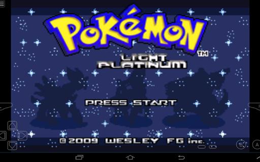 Hướng dẫn chơi game Pokemon Light Platinum mobile