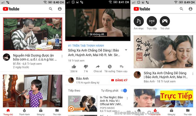Youtube RED có thiết kế lẫn nội dung tương tự với Youtube nên không thiếu một chức năng nào