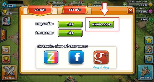 Nút nhập Giftcode Thời Loạn Mobile