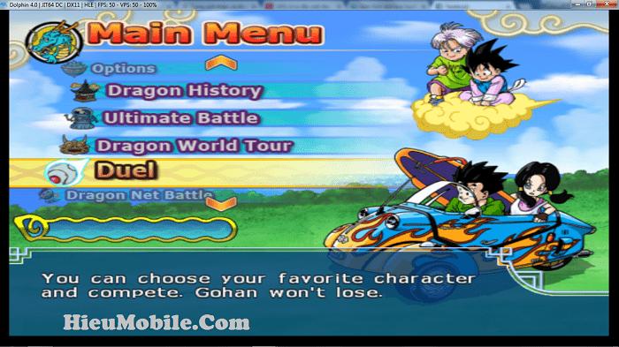 Hình ảnh HbBIqTa của Cách cài phím giả lập Dolphin để chơi Dragon Ball Z Tenkaichi 3 tại HieuMobile