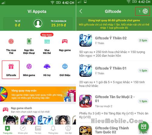 Hình ảnh IKb2JFR của Ví Appota mở kho Giftcode game đổi từ Vòng Quay May Mắn tại HieuMobile