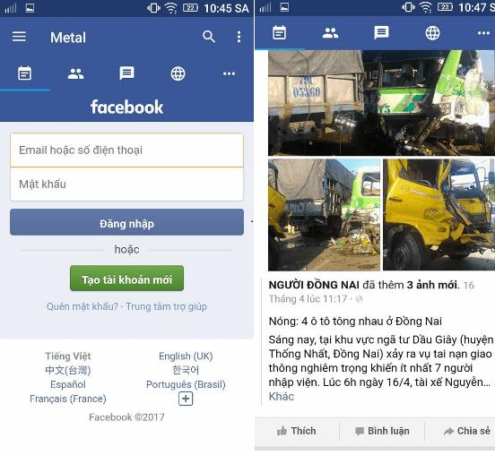 Hình ảnh Il50846 của Tải Metal for Facebook - Nhắn tin không cần Messenger trên Android tại HieuMobile