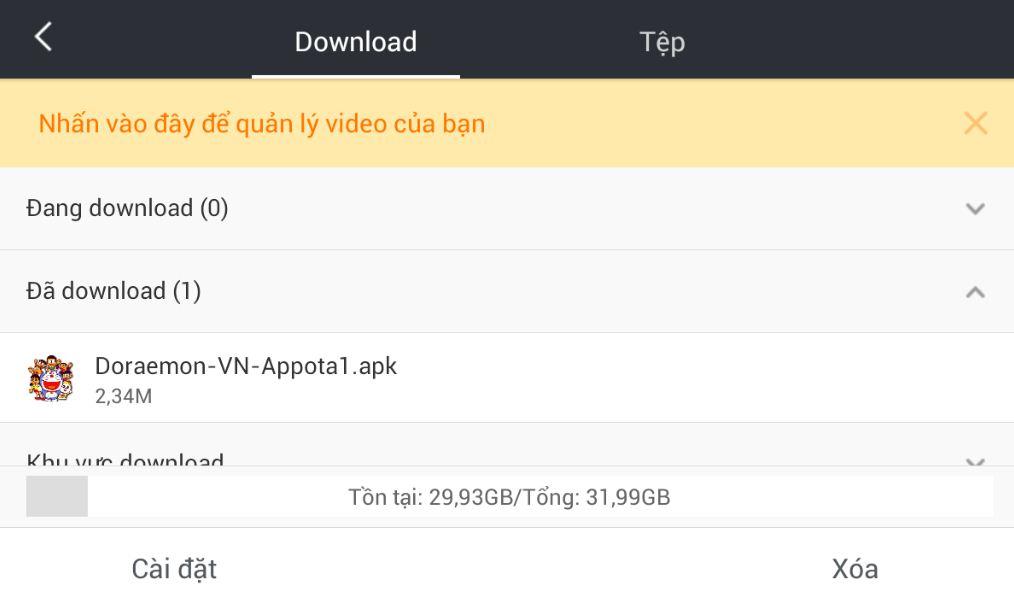 Tải và cài đặt file trên mạng thật dễ dàng khi dùng UC Browser