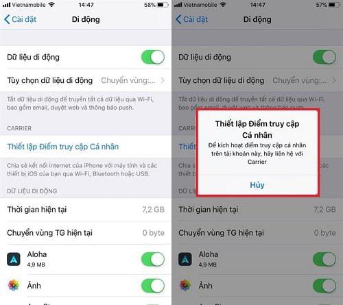 Hình ảnh IsGAoZD của Sửa lỗi thiết lập điểm truy cập khi phát 3G bằng Thánh SIM cho iPhone tại HieuMobile