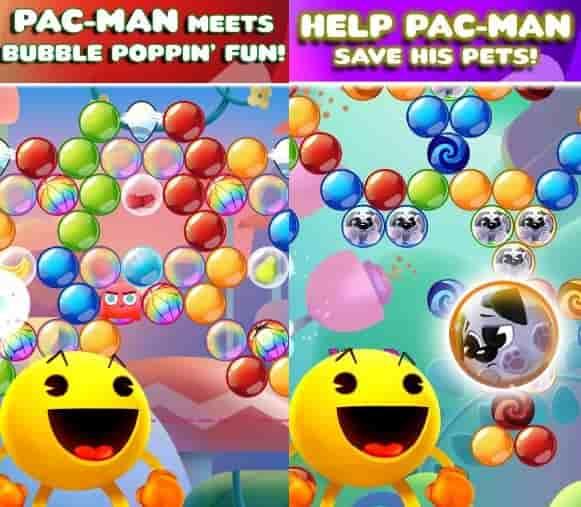 Hình ảnh trong game Pac-Man Pop